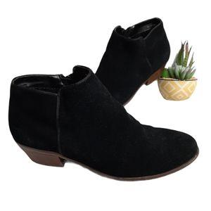 FJ Footjoy Black Leather Suede Ankle Booties 7
